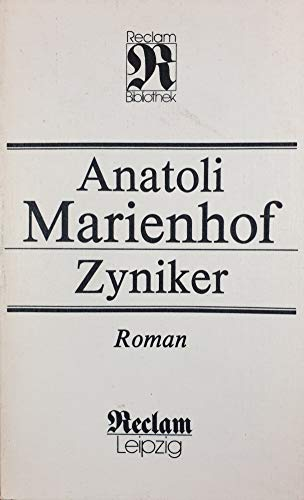 9783379005609: Zyniker: Roman (Reclam-Bibliothek) (German Edition)