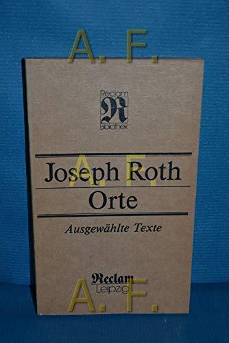9783379005753: Orte: Ausgewahlte Texte (Reclam-Bibliothek) (German Edition)