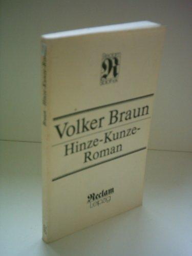 Hinze-Kunze-Roman (Reclam-Bibliothek) (German Edition): Braun, Volker