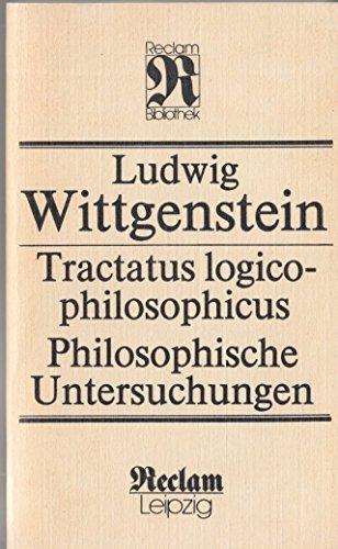 9783379006484: Tractatus Logicco-philosophicus /Philosophische Untersuchungen
