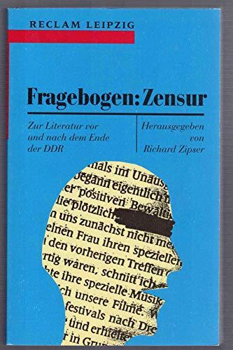 9783379015417: Fragebogen--Zensur: Zur Literatur vor und nach dem Ende der DDR (Reclam-Bibliothek)