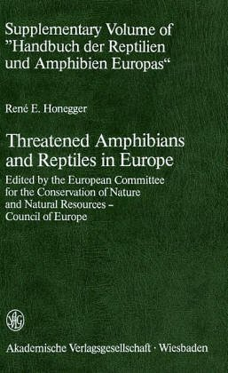 9783400004373: Threatened amphibians and reptiles in Europe