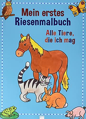 9783401078199: Mein erstes Riesenmalbuch. Alle Tiere die ich mag.