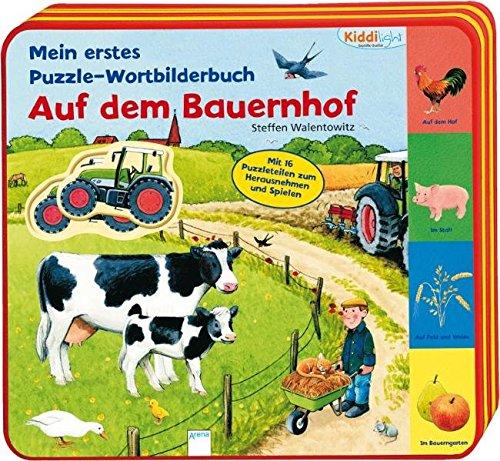 9783401095578: Mein erstes Puzzle-Wortbilderbuch - Auf dem Bauernhof