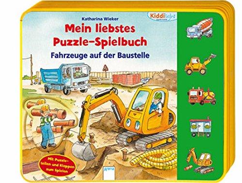 9783401097541: Mein liebstes Puzzle-Spielbuch. Fahrzeuge auf der Baustelle