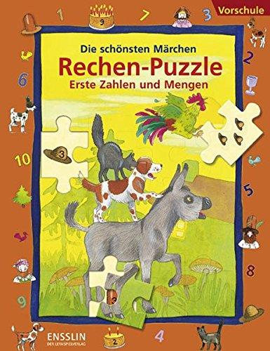 9783401414294: Die schönsten Märchen Rechen-Puzzle. Erste Zahlen und Mengen: Vorschule. 4 Lernspiel-Puzzles
