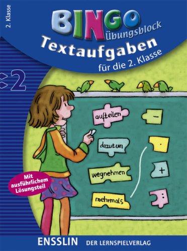 9783401414492: Bingo Übungsblock. Textaufgaben für die 2. Klasse: Mit ausführlichem Lösungsteil