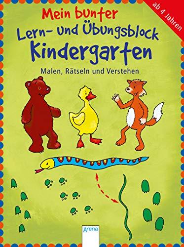 9783401414751: Mein bunter Lern- und Übungsblock Kindergarten. Malen, Rätseln und Verstehen