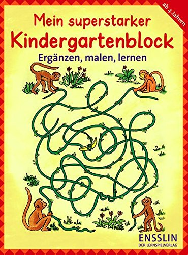 9783401414959: Mein superstarker Kindergartenblock - Ergänzen, malen, lernen