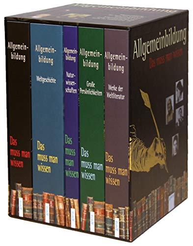9783401509068: Allgemeinbildung. Schuberausgabe mit 5 Bänden: Das muss man wissen: Weltgeschichte. Naturwissenschaften. Große Persönlichkeiten. Werke der Weltliteratur