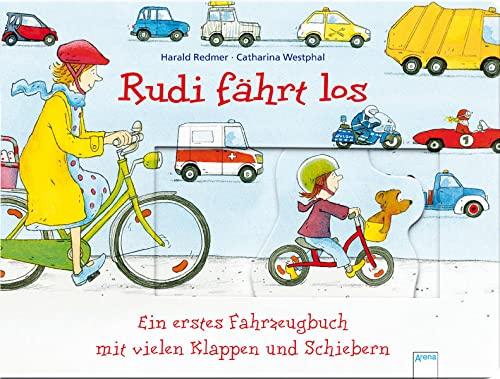 Rudi fährt los Ein erstes Fahrzeugbuch mit vielen Klappen und Schiebern