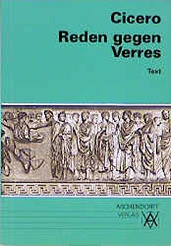 9783402020357: Reden gegen Verres. Text