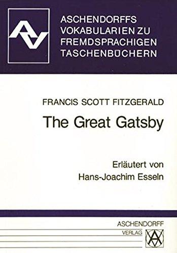 The Great Gatsby. Vokabularien: Zum Penguin-Taschenbuch: Fitzgerald, F. Scott