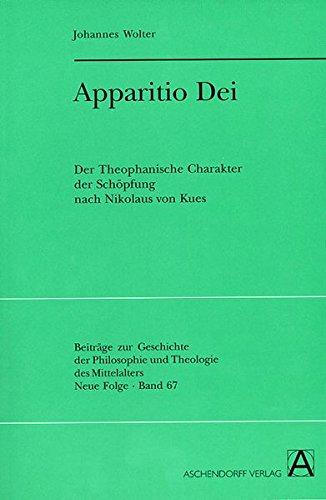 Apparitio Dei: Johannes Wolter