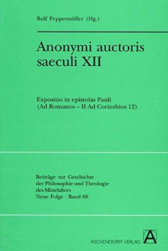 Anonymi auctoris saeculi XII: Ralf Peppermüller