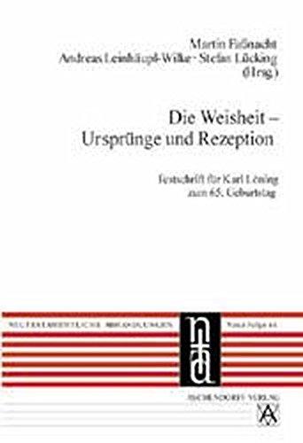 9783402047927: Die Weisheit - Ursprünge und Rezeption: Neutestamentliche Abhandlungen