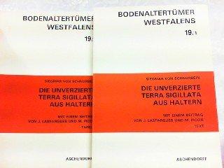 9783402051320: Die unverzierte Terra Sigillata aus Haltern (Bodenaltertümer Westfalens) (German Edition)