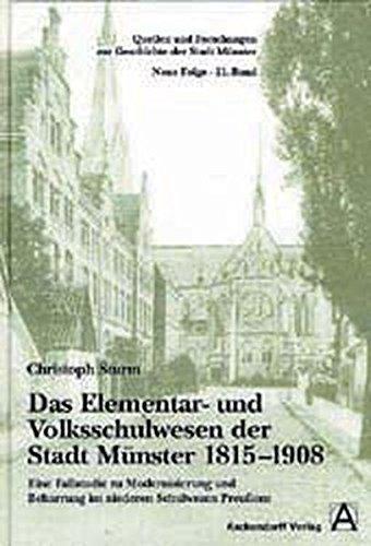 Das Elementar- und Volksschulwesen der Stadt Münster 1815-1908: Christoph Sturm
