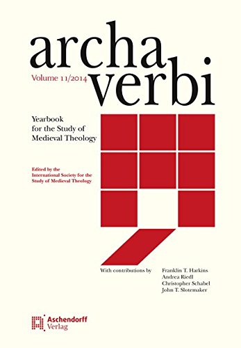 Archa Verbi, Volumen 11-2014: Yearbook for the Study of Medieval Theology (Hardback)