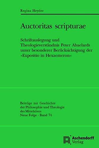 Auctoritas scripturae: Regina Heyder