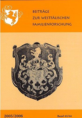 9783402138854: Beiträge zur westfälischen Familienforschung 63/64