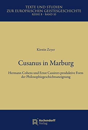 Cusanus in Marburg: Kirstin Zeyer