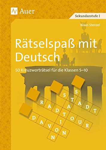 9783403041405: Rätselspaß mit Deutsch: 50 Kreuzworträtsel für die Klassen 5 - 10
