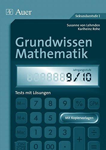 9783403046035: Grundwissen Mathematik 9/10: Tests mit Lösungen