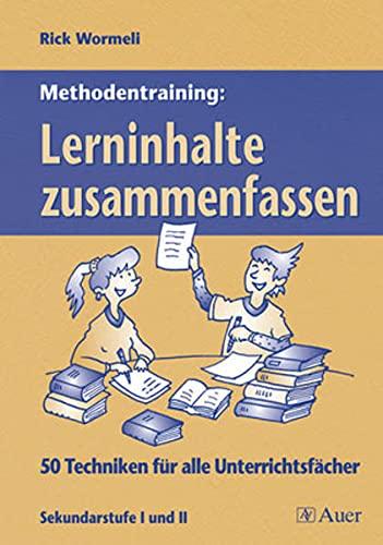 9783403046646: Methodentraining: Lerninhalte zusammenfassen