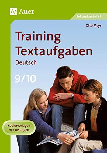 9783403061267: Training Textaufgaben Deutsch 9./10. Klasse
