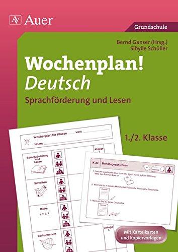 9783403065777: Wochenplan! Deutsch 1./2. Klasse