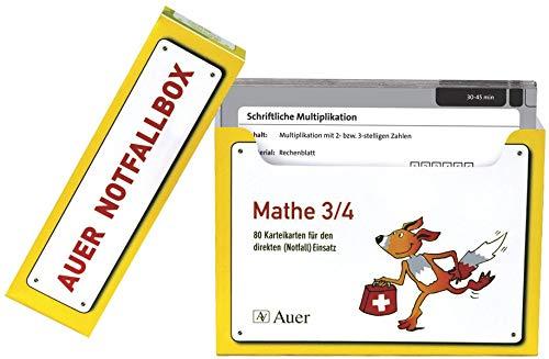 9783403066576: Schnelle Vertretungsstunden Mathe 3/4: 80 Karteikarten f�r den direkten Einsatz aus der Auer-Notfallbox (3. und 4. Klasse)