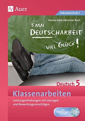 9783403067221: Klassenarbeiten Deutsch 5: Leistungserhebungen mit Lösungen und Bewertungsvorschlägen