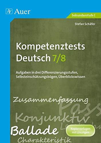 9783403069614: Kompetenztests Deutsch, Klasse 7/8