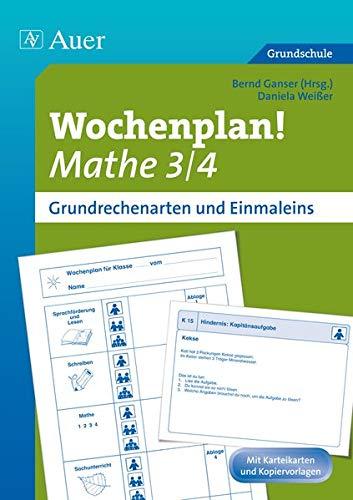 9783403069881: Wochenplan Mathe 3/4, Grundrechenarten und 1x1: Materialien zur Individualisierung (3. und 4. Klasse)