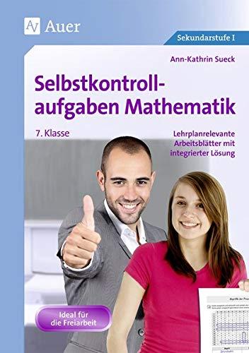 9783403070450: Selbstkontrollaufgaben Mathematik Klasse 7: Lehrplanrelevante Arbeitsblätter mit integrierter Lösung