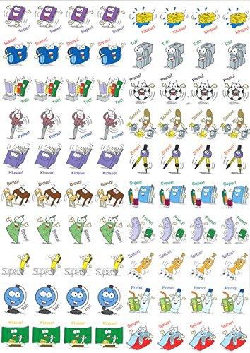 9783403072300: 800 lustige Lobsticker: Mit 20 verschiedenen Motiven motivieren und belohnen (1. bis 4. Klasse)