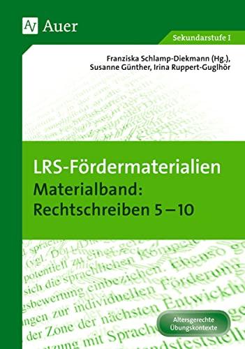 9783403072591: LRS-Fördermaterialien 2: Materialband Rechtschreiben 5-10 (5. bis 10. Klasse)