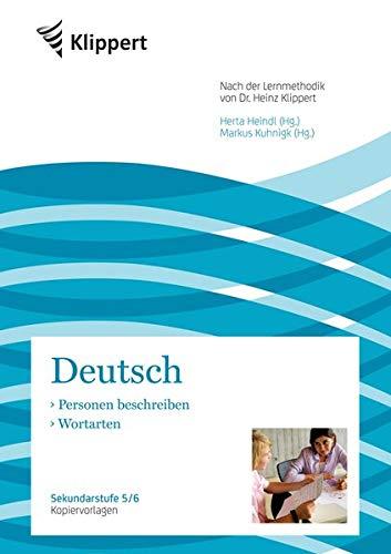 9783403090946: Deutsch - Personen beschreiben / Wortarten: Kopiervorlagen (5. und 6. Klasse)