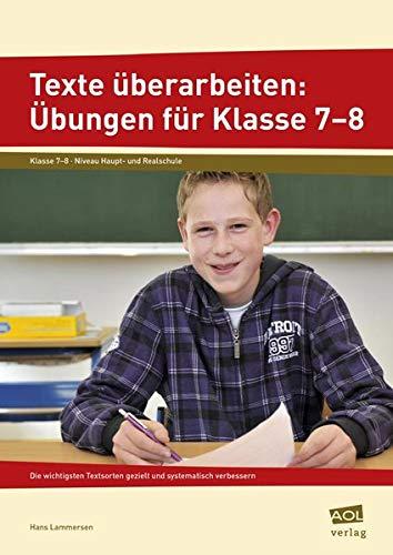 9783403101734: Texte überarbeiten: Übungen für Klasse 7-8