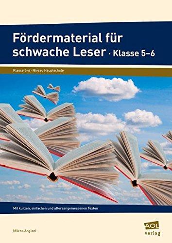 9783403101826: Fördermaterial für schwache Leser - Klasse 5-6: Mit kurzen, einfachen und altersangemessenen Texten