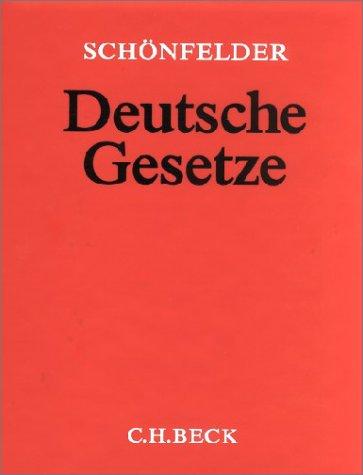 9783406012068: Deutsche Gesetze. Plastik-Ablegeordner 45 mm