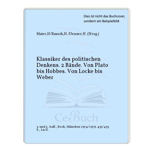 9783406025174: Klassiker des politischen Denkens. Band 1, Von Plato bis Hobbes