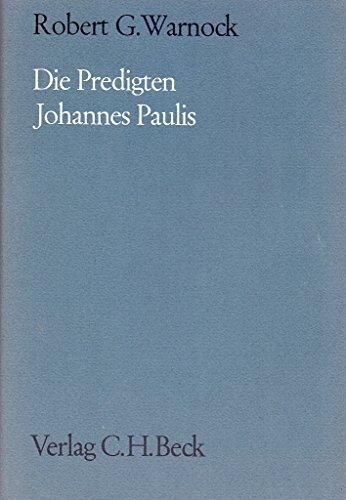 9783406028267: Predigten Johannes Paulis