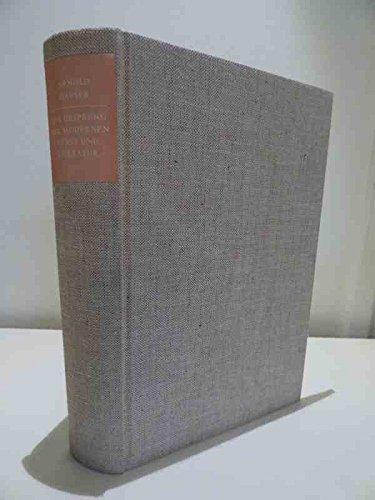 Der Ursprung der modernen Kunst und Literatur.: Hauser, Arnold