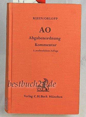 9783406041433: AO, Abgabenordnung: Einschl. Steuerstrafrecht (German Edition)