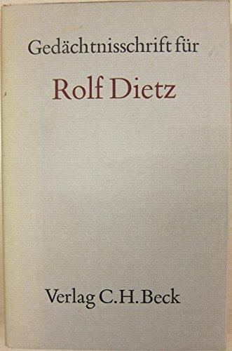 9783406049606: Gedächtnisschrift für Rolf Dietz