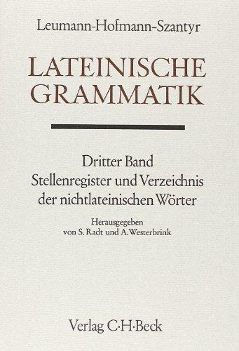 9783406060724: Handbuch der Altertumswissenschaft, Bd.2/3, Lateinische Grammatik