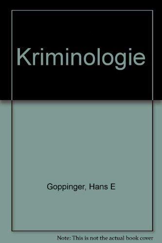 9783406066559: Kriminologie (German Edition)
