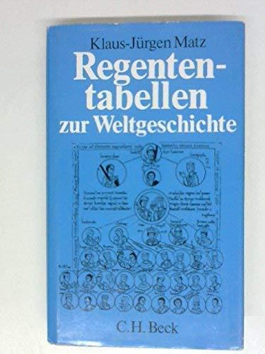 9783406080524: regententabellen_zur_weltgeschichte
